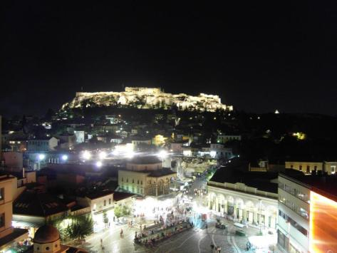 A for Athens - the view. The picture is from 2011. I'd like to think that my photo skills have improved since then...
