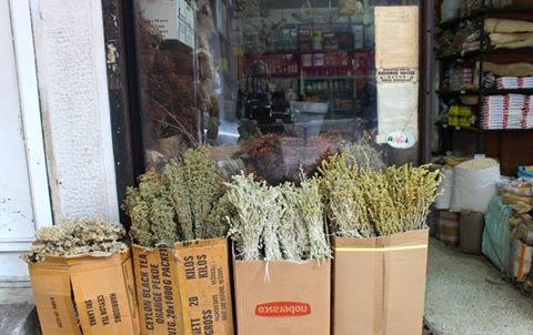 Many small shops around Athinas street sell dried herbs in bunches for low prices. I get all my oregano from those parts of Athens.