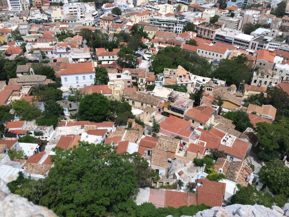 Plaka as seen from the Acropolis hill - my favourite part of Athens